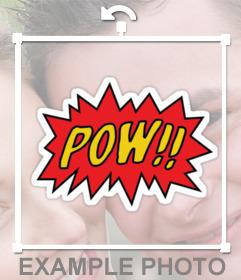 Coloque o efeito de som de prisioneiros de guerra em quadrinhos do Batman em sua foto com esta etiqueta