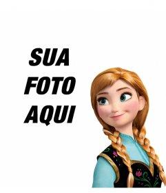 Princesa Anna, de congelados em suas fotos com este efeito livre