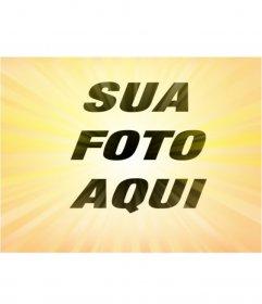 Efeito amarelo Radial foto para dar efeito às suas fotos