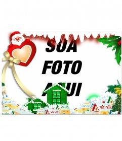 Cercar sua imagem com uma vila do Natal editando este efeito em linha