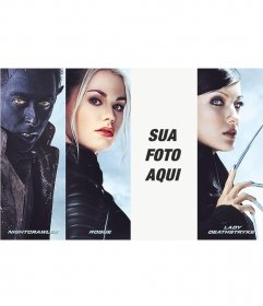 Fotomontagem com personagens de X-Men