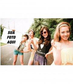 Fotomontagem com as meninas do SNSD