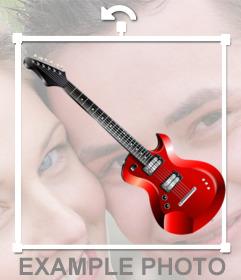 Uma guitarra elétrica para colocar em suas fotos com esta etiqueta