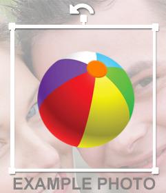Bola de praia colorido para colar em suas fotos