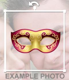 Máscara de Carnaval para colocar em suas fotos  grátis