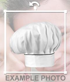 Etiqueta de um chapéu chefs de colocar as suas fotos