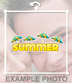 Aproveite o verão com esta etiqueta livre para as suas fotos