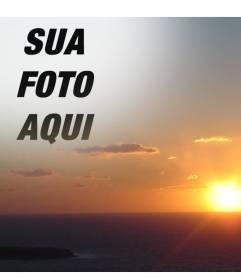 Com essa montagem, você pode editar um por do sol no litoral, fazendo uma colagem com um corte de sua foto. Ideal para rostos