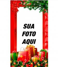 Cartões de Natal para histórias e instagramas do Facebook