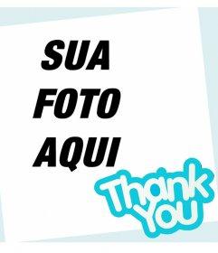 Cartão para dizer obrigado a alguém e editar com uma foto em linha