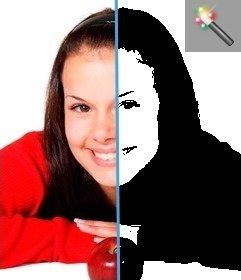 Filtro para passar a fotografia ao estilo Guevara preto e branco
