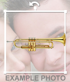 Coloque um trompete em suas fotos com este etiqueta do divertimento