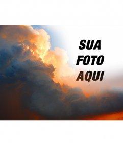 Fotomontagem especial com nuvens