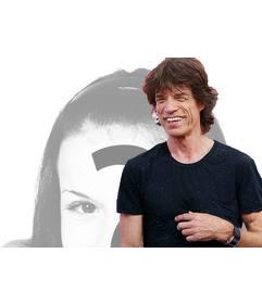 Crie uma foto montagem com o famoso cantor Mick Jagger dos Rolling Stones