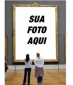 Fotomontagem para colocar sua foto em uma foto de um museu
