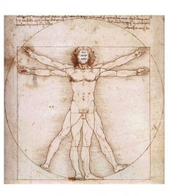Seu rosto dentro do famoso Homem Vitruviano de Leonardo Da Vinci, quadro com o qual se surpreender