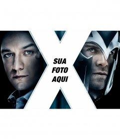 X-Men cartaz com sua foto