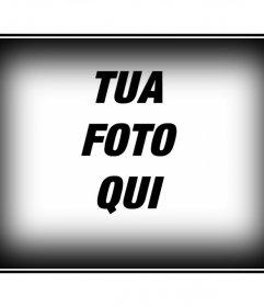 Quadro per una foto con bordo bianco e nero. Modificare le foto con i monti di questa pagina, in modo semplice e gratuito. Otterrete risultati professionali