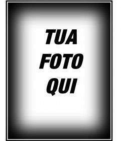 Fai tuning alle vostre immagini con le nostre prestazioni, in questo caso, un quadro composto da un bordo nero e bianco per le foto in verticale