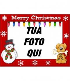 EDGE per decorare le foto con la frase di Buon Natale e luci colorate