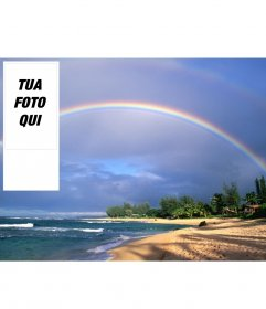 Sfondi per Twitter arcobaleno su una spiaggia, di mettere il vostro foto online