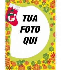 Photo frame, Natale stelline rosse regalo fondo