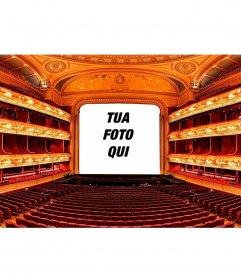 Collage con un palcoscenico teatrale