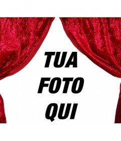 """Il sipario si apre. Fotomontaggio per decorare la tua foto con le tende teatro all""""aperto. decorazione curioso"""