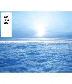 Personalizzato Twitter sfondo del cielo con le nuvole. Metti la tua foto su di esso