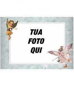 Cornice per foto con le immagini delle fate alate che mettere una foto online