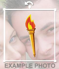 Foto effetto di aggiungere la torcia olimpica sulle vostre foto come adesivo