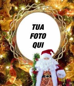 Metti la tua foto su un albero di Natale con Babbo Natale