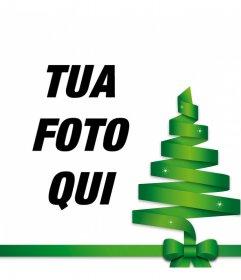 Albero di Natale vettore per decorare la tua foto