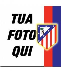 Metti lo scudo dell'Atlético de Madrid con la tua foto