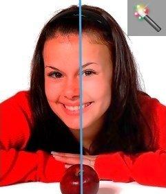 Correzione tono automatica per le foto senza photoshop per fare online