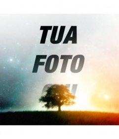 Fare un collage di un cielo stellato con la tua foto