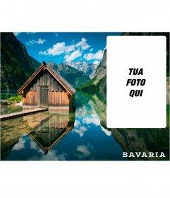 Bavaria cartolina con limmagine di un