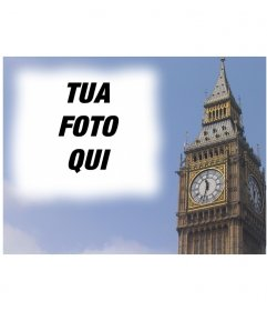 Fotomontaggio di fare una cartolina con il Big Ben a Londra, personalizzate con la tua foto. Finitura professionale e facile modifica tramite questa pagina