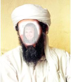 Fotomontaggio di Osama Bin Laden per mettere la vostra faccia sul suo volto
