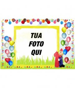 Birthday card confina con palloncini colorati