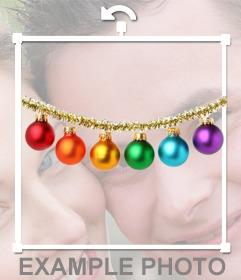 Sticker di palle di Natale per mettere le tue foto
