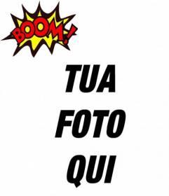 Effetto per le foto BOOM! di mettere la tua foto in linea! Adesivo BOOM