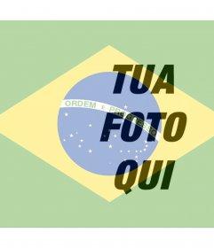 Metti la bandiera brasiliana accanto alla tua foto online