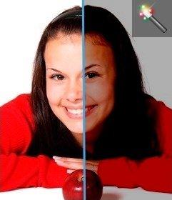 Effetto per modificare le foto troppo luminose in linea