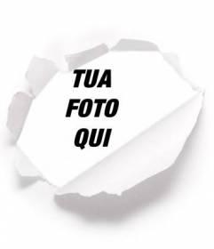 Metti la tua foto dietro un ideale per la carta strappata immagini del profilo