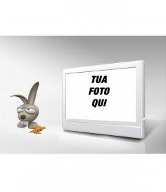 TV Photo Frame e coniglio. Personalizza con la tua foto!