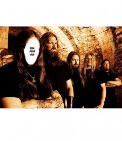 Fotomontaggio per aggiungere il tuo volto in un cantante heavy metal