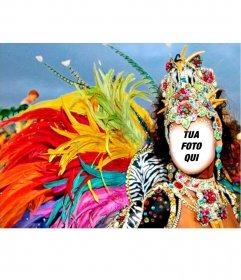 Fotomontaggio di un carnevale carnevale di mettere la tua foto