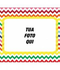 Lettera a forma di telaio per mettere la tua foto in molti colori