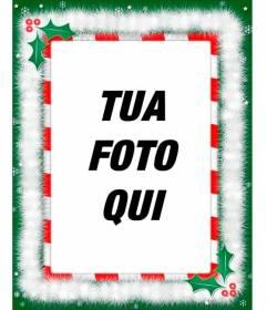 Cornice per foto con decorazioni di Natale, complimenti speciali via e-mail